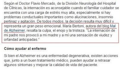 Captura de la nota de Clarín.