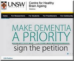 Acceso al petitorio desde el sitio web del CheBA, que depende de la The Universidad New South Wales.