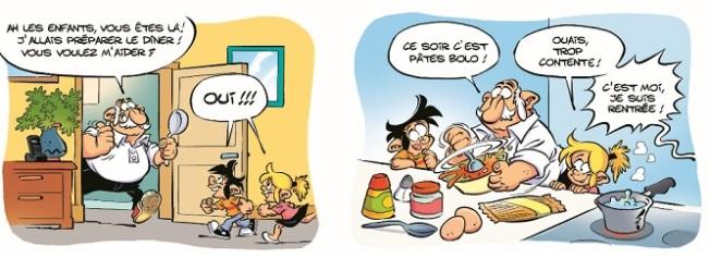 Fragmento de la historieta 'Pánico en la cocina'.