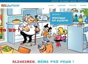 Alzheimer, ¡ni siquiera miedo!, desafía la portada del sitio web.