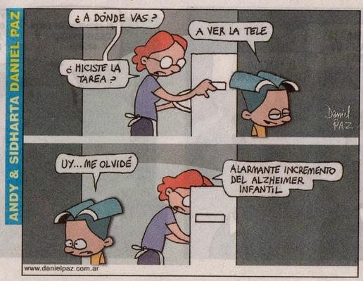 El chiste de Daniel Paz salió publicado en el suplemento humorístico de Página/12, el sábado 5 de diciembre del año pasado.